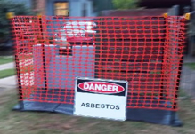 Asbestos site